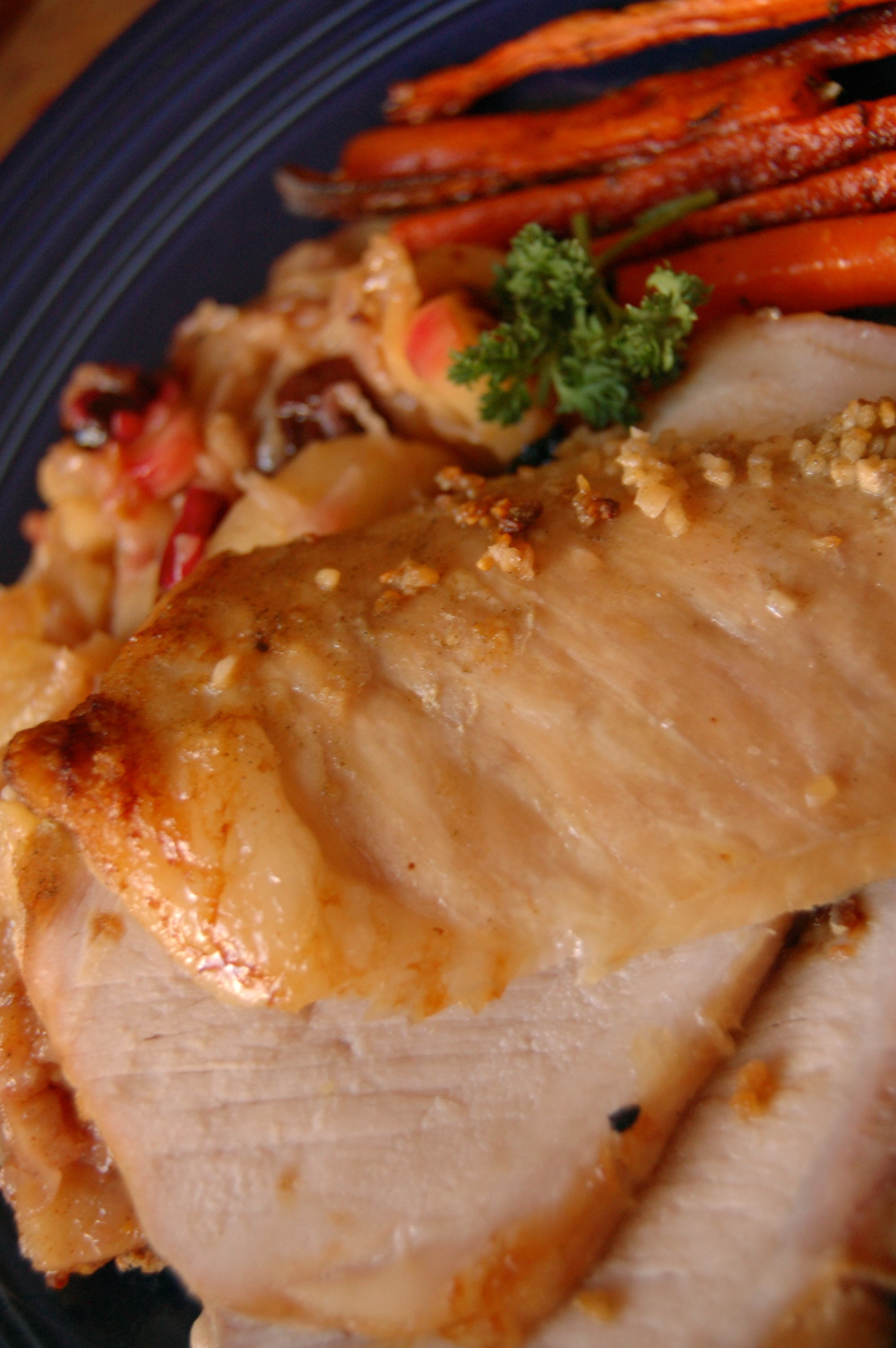 Roast Pork Loin with Apple Bacon Compote | A PCOS Cookbook